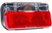 Busch + Müller Toplight Line plus Dynamo rowerowe dla 50 mm rozstaw otworów czerwony/czarny